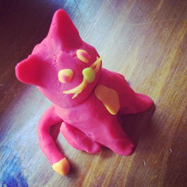 i think my play doh cats are really coming on. can i put t ...