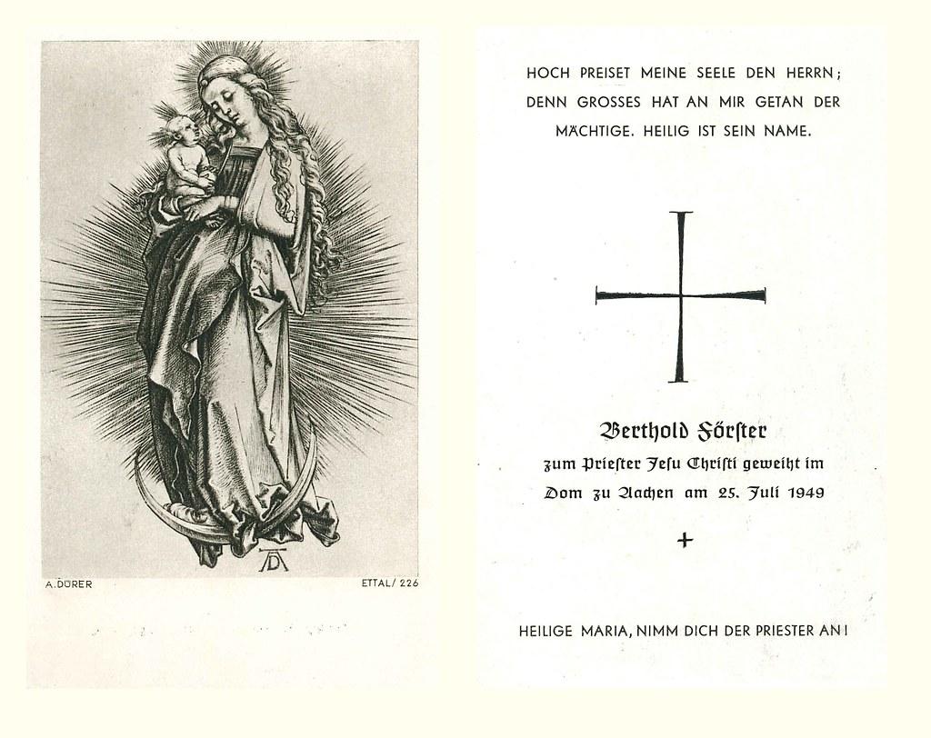 Priesterweihe Foerster, Berthold 25.07.1949