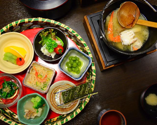 Desayuno típico japonés que tomamos en Hakone