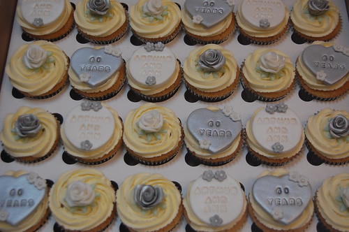 You just can't let such an important occasion go by without a celebratory cake or cupcakes and we think these fit the bill beautifully! The Diamond Wedding Cupcakes - from £2 each (minimum order 12).