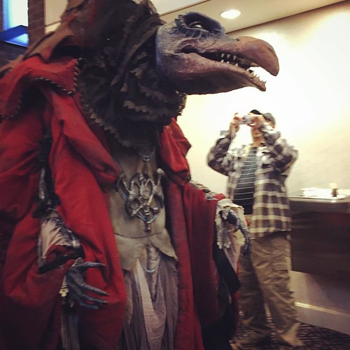 The Chamberlain surveys FaerieCon, decides not to destroy us, yay.    #BEST #SQUEE #skeksis #costuming #cosplay #thedarkcrystal #henson #froud #puppetry #FaerieCon #faeriecon2016 #faerieconeast #faeriefestival #faelife #renfaire #renaissancefestival #equa