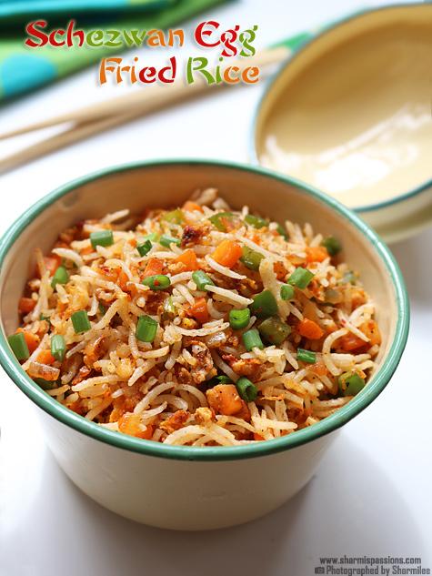 Schezwan egg fried rice recipe sharmis passions schezwan egg fried rice recipe forumfinder Images