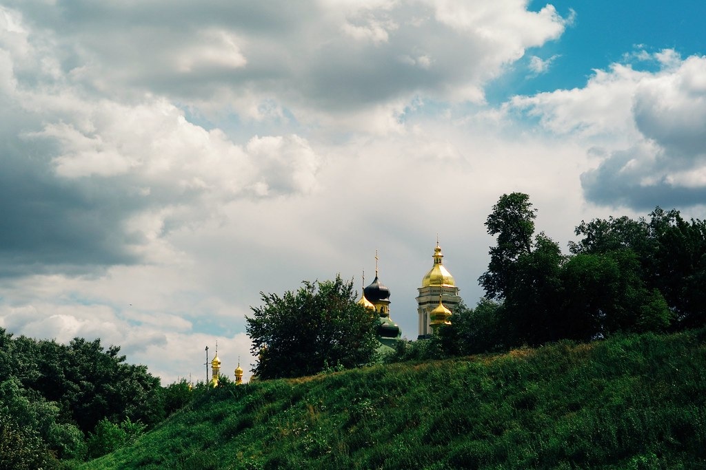 Gold domes and hills everywhere you go in Kyiv