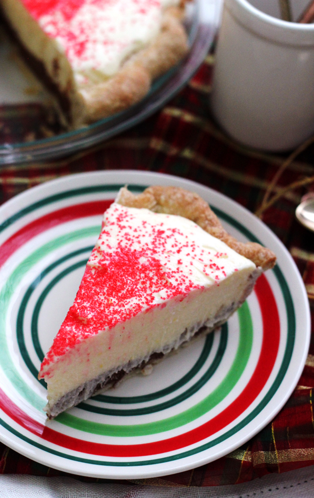 Peppermint Mousse Black Bottom Pie
