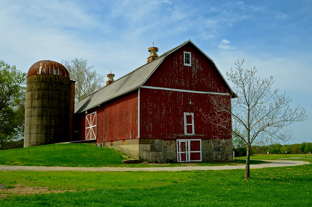 barn and silo leroy oaks county forest preserve saint ch