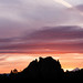sunset behind smith rock