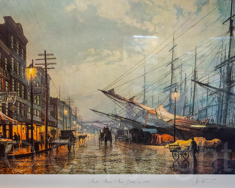 South street new york 1880 painting maritime industry mus for Painting jobs nyc