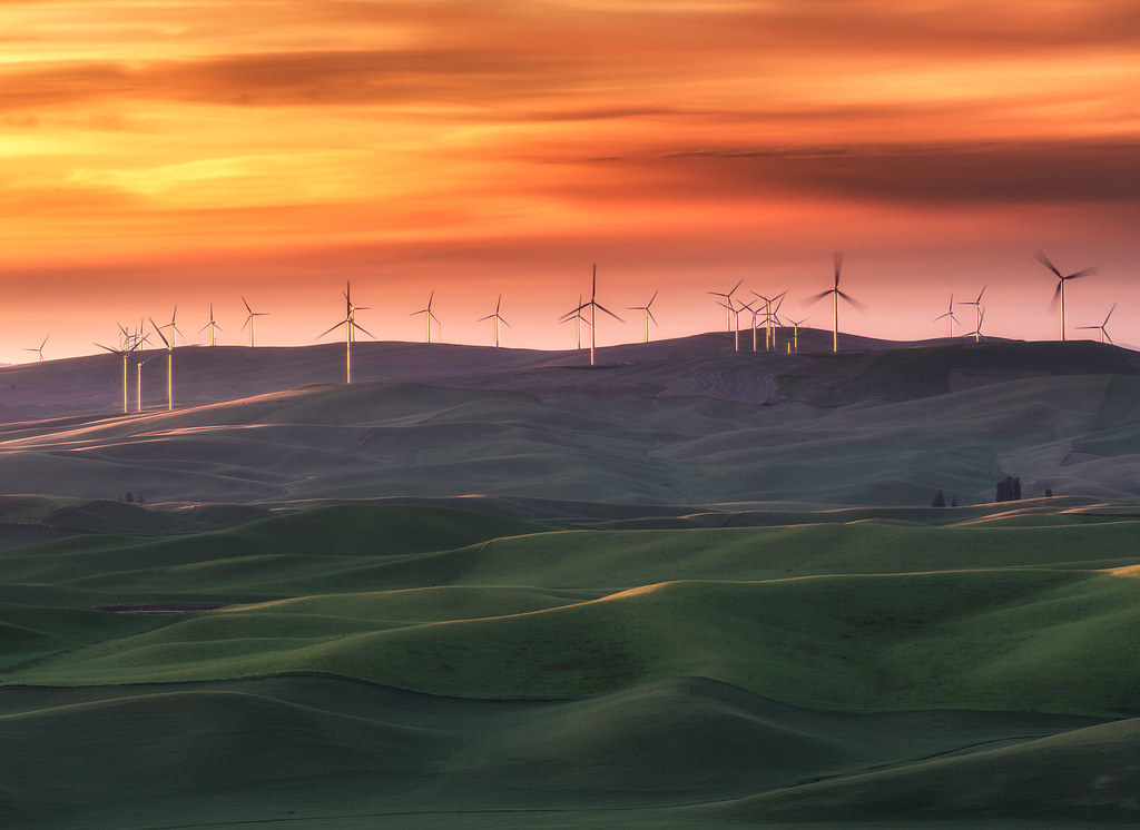 Palouse Wind Farm The Pacific Northwest Is God S Country