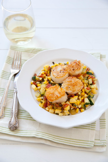 Seared Scallops with Summer Veggie Succotash | Annie's Eats | Flickr ...