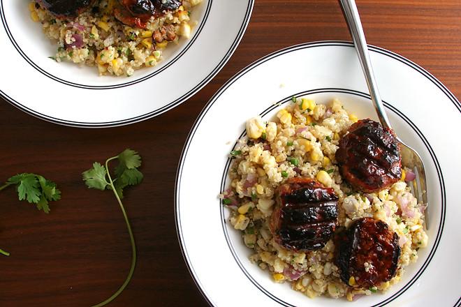 bbq meatballs quinoa 6