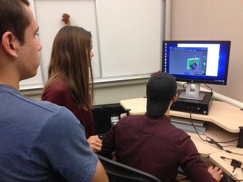 Students from the Math and Engineering Club 3D Scanning