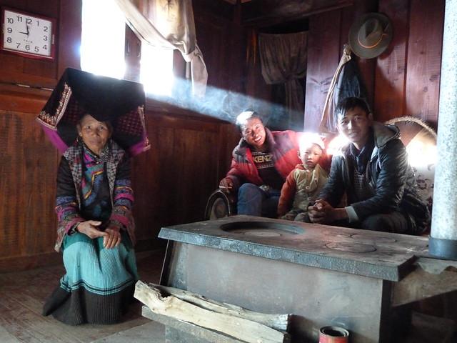 Familia yi negra de Yunnan (China)