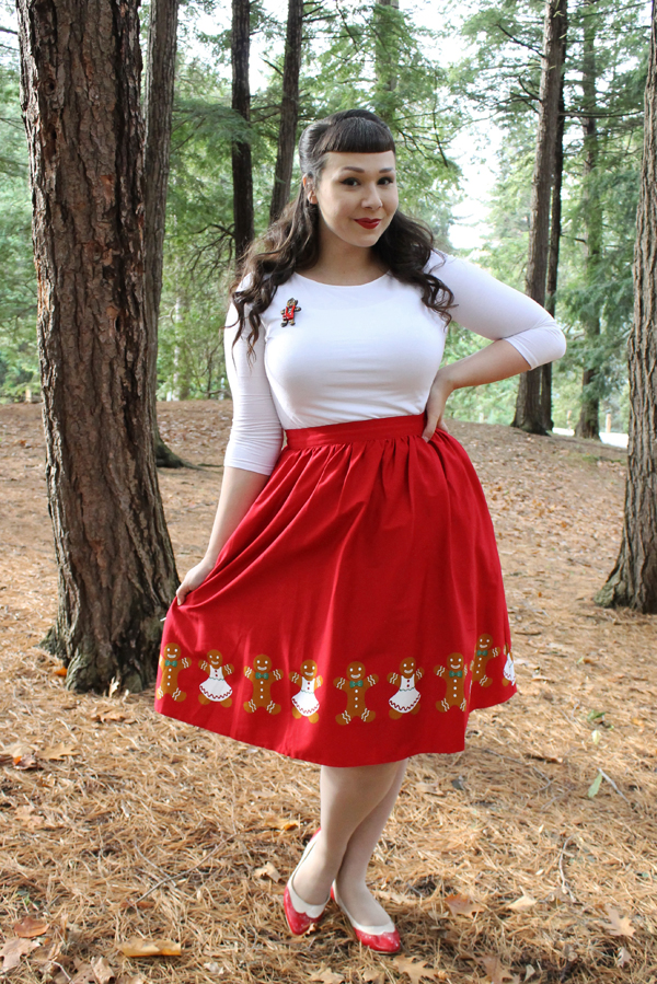 modcloth gingerbread skirt