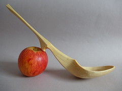 #238 Birch serving spoon