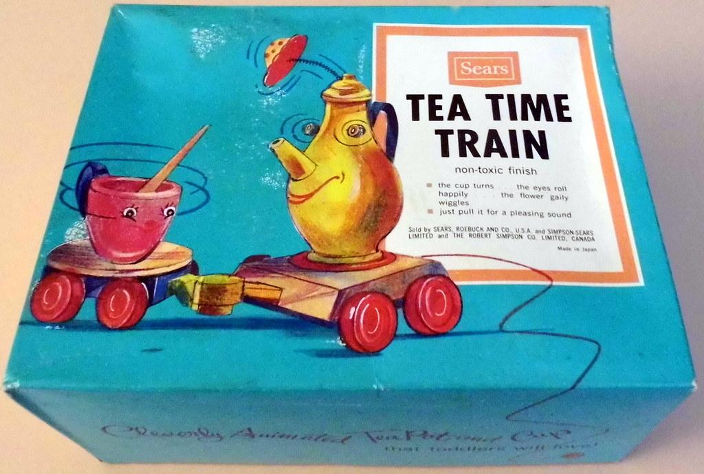 vintage tea time toy train sold by sears model flickr. Black Bedroom Furniture Sets. Home Design Ideas