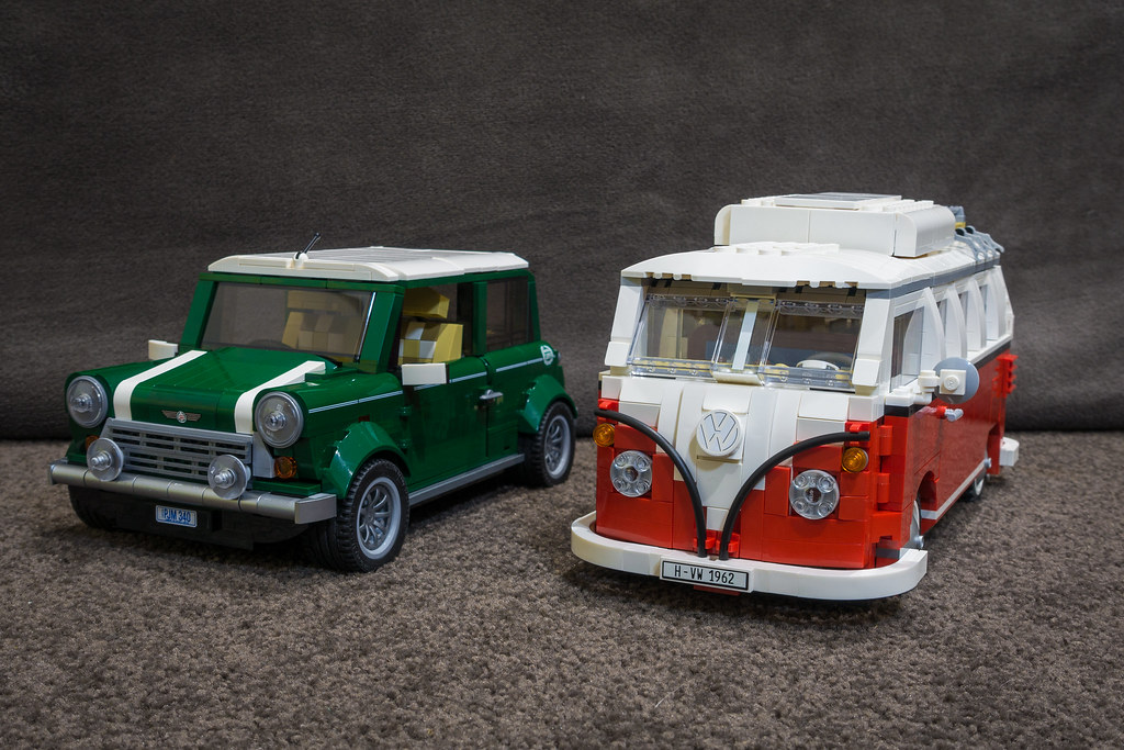 lego mini cooper and vw camper van comparision between. Black Bedroom Furniture Sets. Home Design Ideas