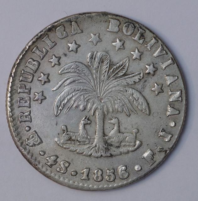 4 soles 1858 Bolivia -Potosi 30781516185_df911c21a3_z