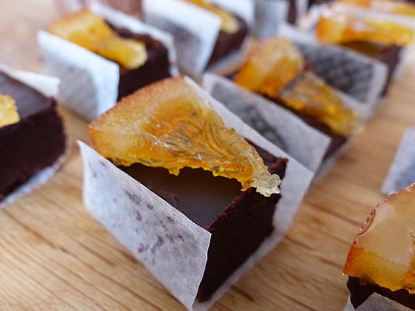 bouchées chocolat Yuzu