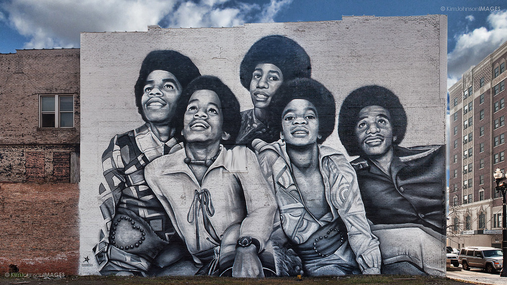 jackson five mural in downtown gary indiana jackson five