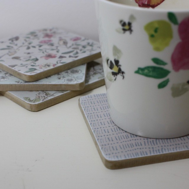 English Garden Decoupage Coasters by StickerKitten