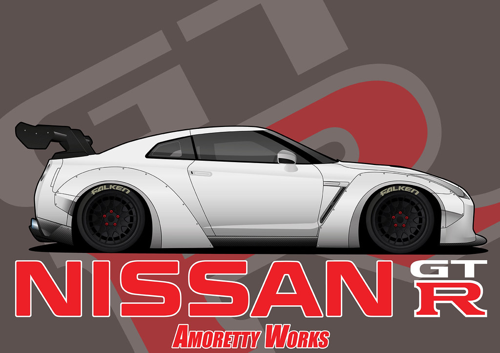 Nissan Gtr Liberty Walk Vector Amorettyworks Flickr