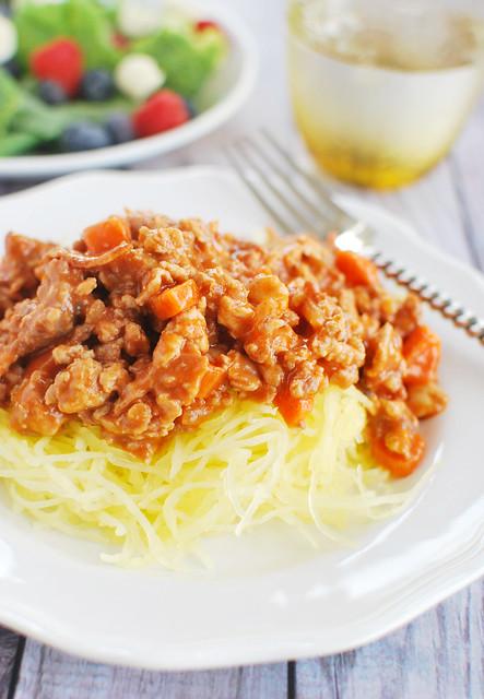 Spaghetti Squash Bolognese (Paleo)