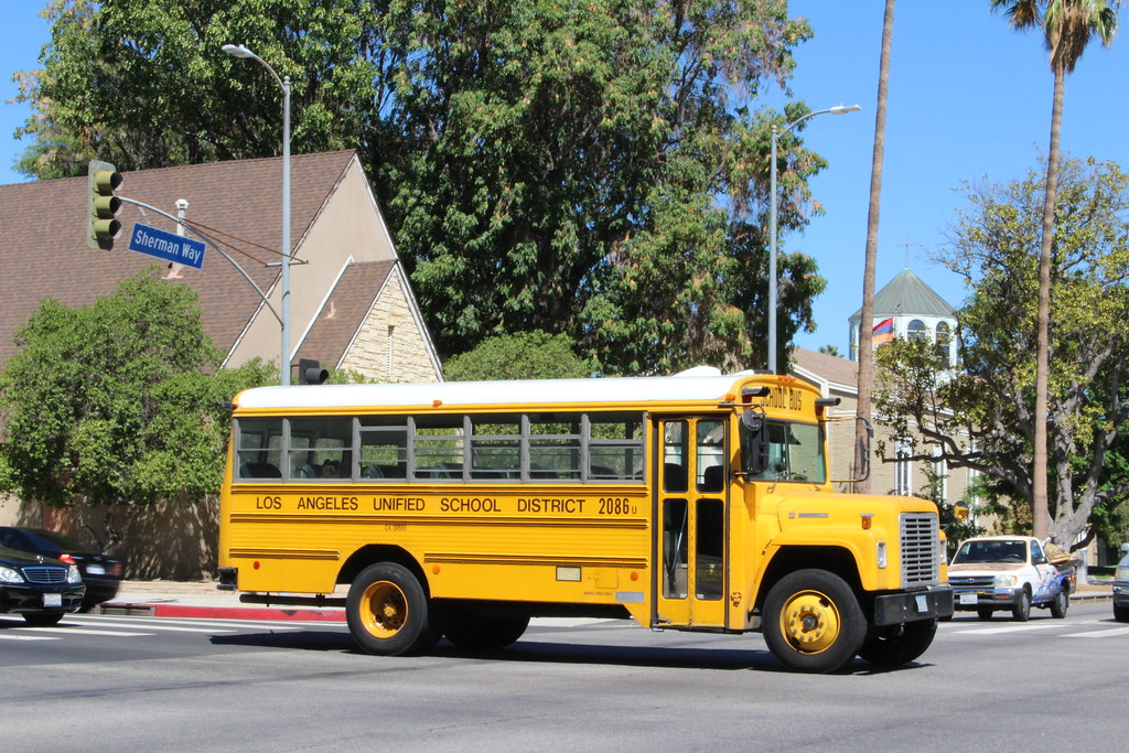 Lausd Bus Older International School Bus Still At Work