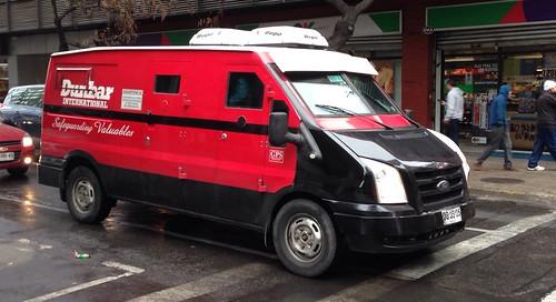 Ford Transit, transporte de valores Dunbar - Santiago, Chile