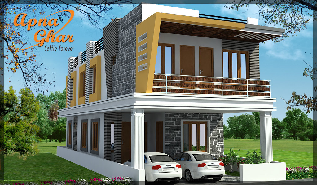 Duplex house design a design created keeping in mind all for Ghar design photo