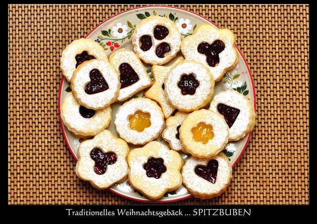 Weihnachtsgebäck klassisch traditionell Spitzbuben Doppeldecker Buttergebäck ... Text und Fotos: Brigitte Stolle 2016