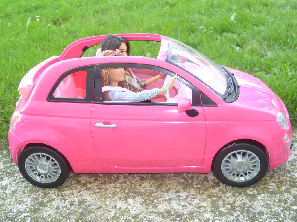 Barbie fiat 500 for Barbie chien piscine