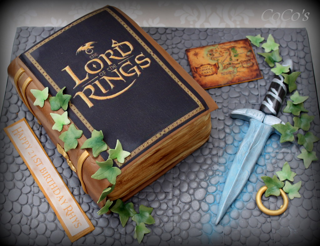 Lord Of The Rings Book Cakes