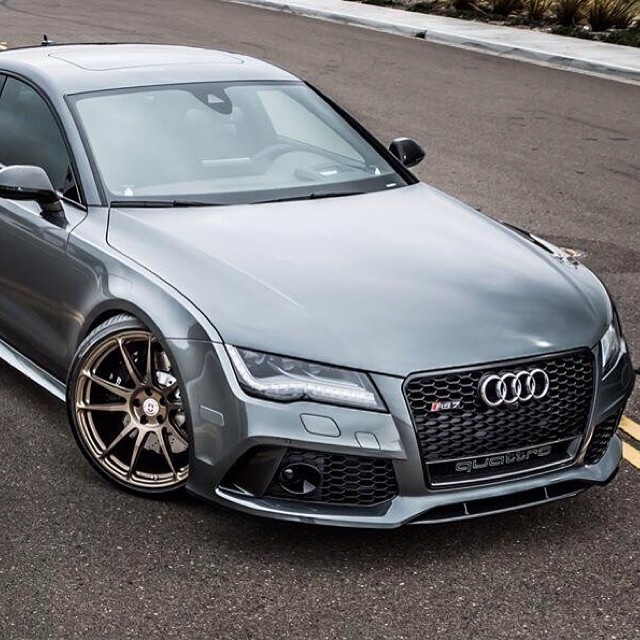 Audi Rs7 With Hre Wheels Quattro Audi Rs7 Instagood