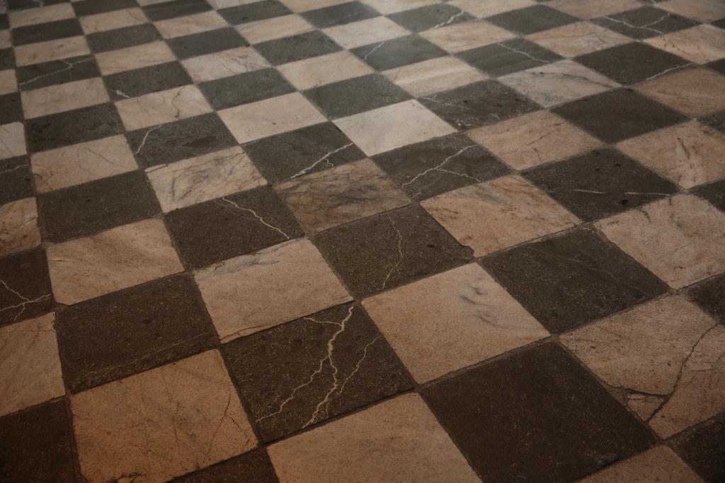 Black White Checkerboard Kitchen Floor