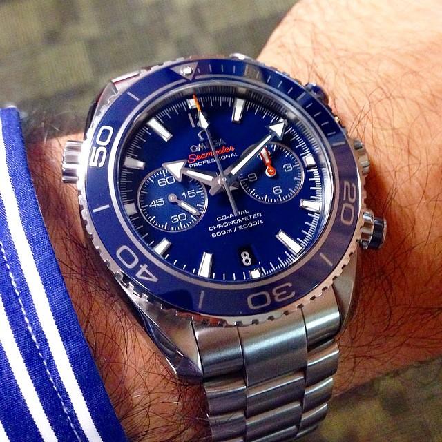 Omega Seamaster Planet Ocean 600m Titanium Blue Ceramic Be
