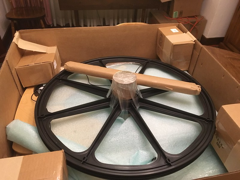 An entire spinning wheel fits in this box.