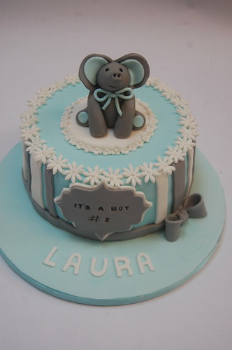 Such a cutie! A fab addition to the increasingly popular Baby Shower! The Elephant Baby Shower Cake - from £60.