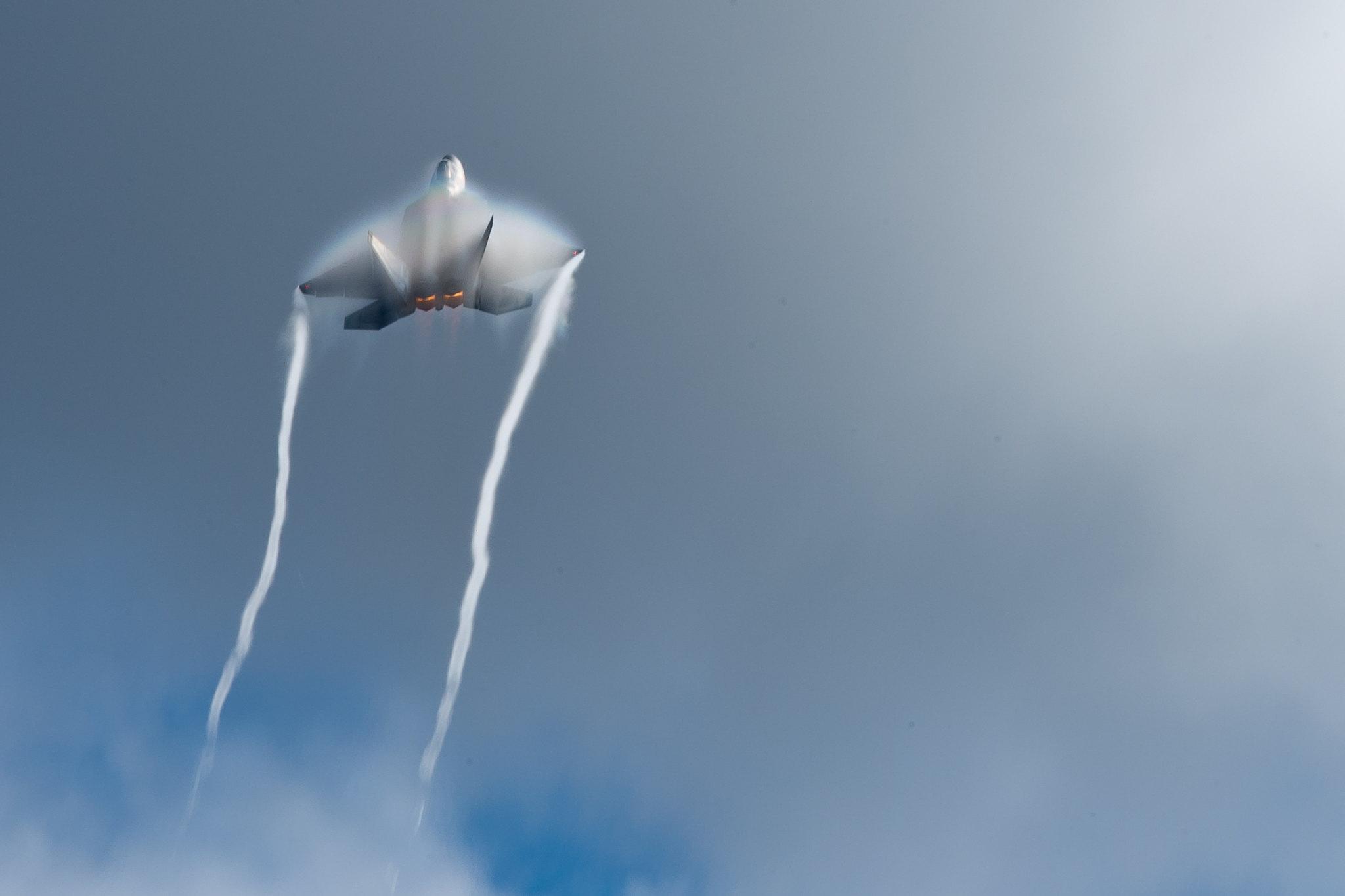 F-22 flys at Artctic Thunder