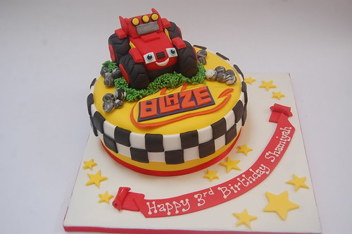 Another new one on us, Blaze is an extremely popular little guy with pre-schoolers out there! The Blaze and the Monster Machines Cake - from £75