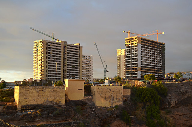 Work on the Hard Rock Hotel, Playa Paraiso, Tenerife