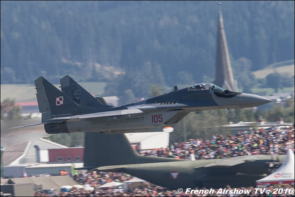 MiG-29 Polish Air Force , Polish Air Force Mikoyan MiG-29 ,airpower zeltweg 2016 , AIRPOWER16 - Österreichs Airshow , Steiermark , Austria, Canon Reflex , EOS System
