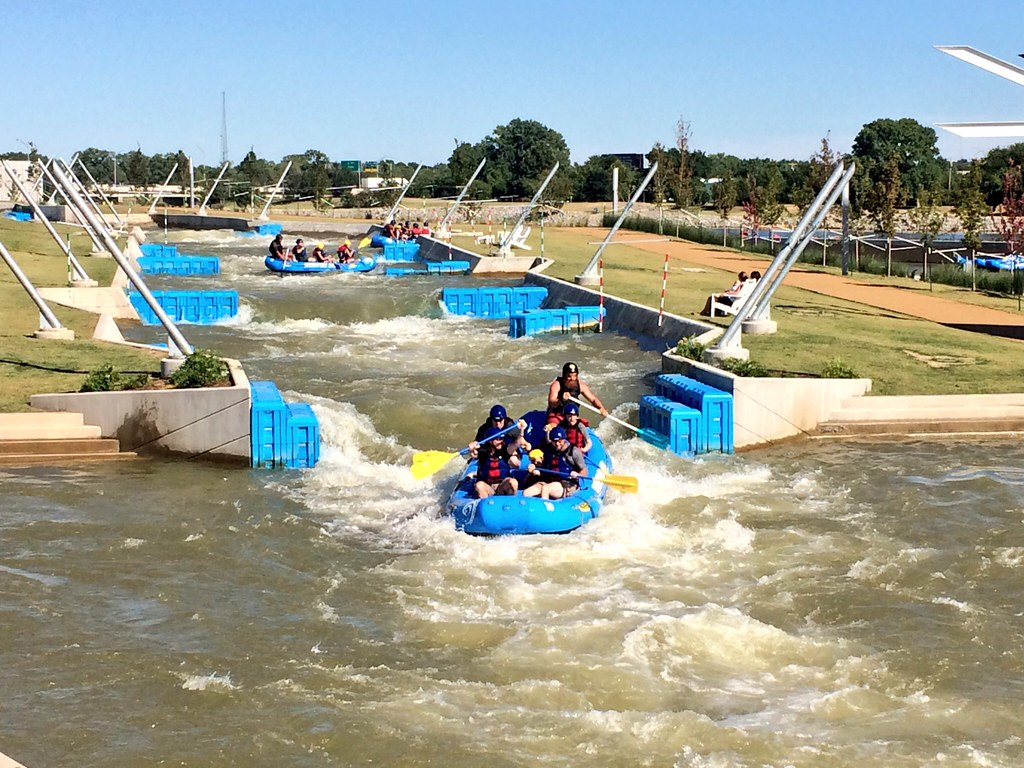whitewater rafting, OKC River Rapids