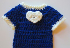 Crocheted I Heart Doll Dress