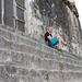 Jonas på toppen av det nesten 70 meter høye Maya-tempelet