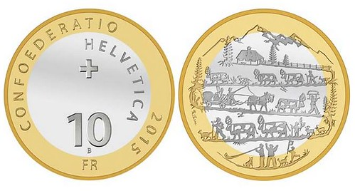 2015 Swiss Alpabfahrt coin