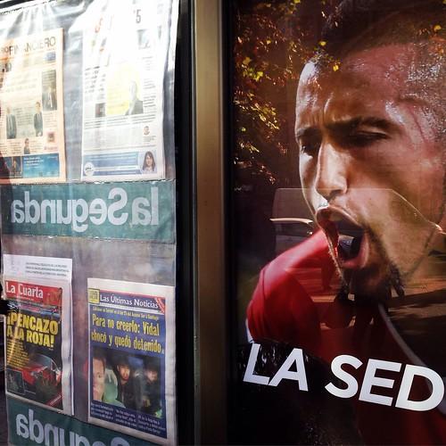 La Sed... Arturo Vidal en las noticias - Santiago, 17 de junio 2015