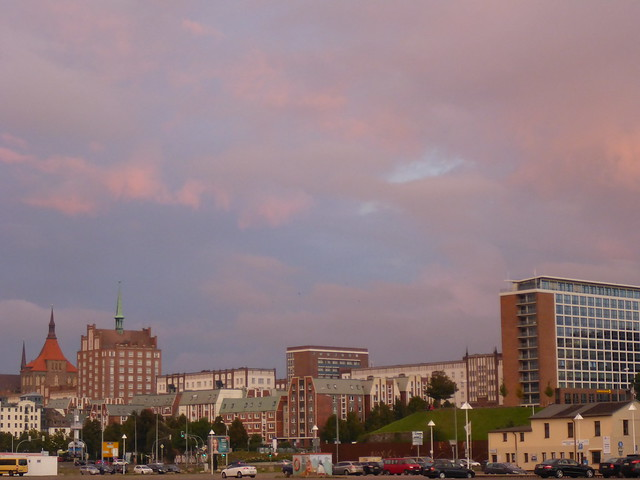 Sonnenuntergang am Rostocker Stadthafen