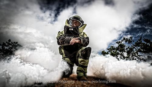 EOD bomb suit shoot