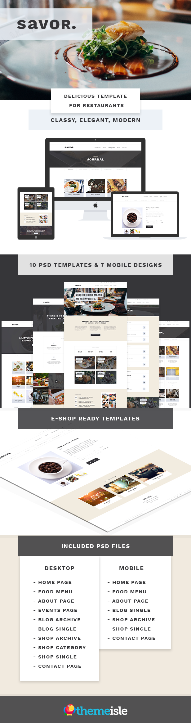 Savor - Restaurant Website Template