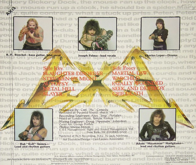 "E-X-E EXE STRICKEN BY MIGHT + Lyrics Sheet 12"" vinyl LP"
